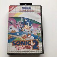 Sonic The Hedgehog 2 SEGA MASTER SYSTEM Classic Retro Video Game