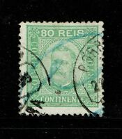 Portugal SC# 74, Used, minor bending, small center tear - S6198