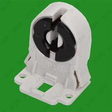 T8 Base Fluorescent & LED Tube Lamp Holders Sockets Snap-In Or Slide-On Fitting.