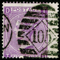 SG108, 6d dull violet PLATE 8, USED. Cat £90. TD