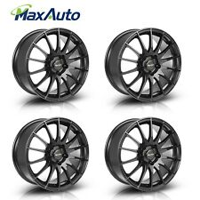 4 Pcs Wheels 17X7.5 Rims 5X112 +35mm Black For Mercedes-Benz E300 C280 CLA CLK