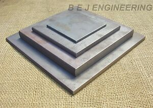 Mild Steel Plates - 100mm to 300mm square - Fixing-Mounting - Black Flat Bar