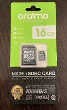 100% Genuine New Oraimo 16GB Micro SD SDHC Memory Card Class 10