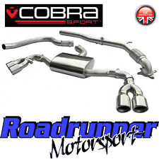 "Cobra Audi TT MK2 1.8 & 2.0 TFSi 3"" Turbo Back Exhaust & Decat Downpipe Quad Tip"
