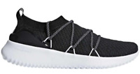 Adidas Ultimamotion Running Shoes Black White Cloudfoam B96474 Womens 9.5->10