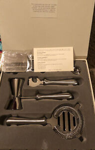 NEW Pottery Barn Stainless Steel 5 piece Bar Tool Set