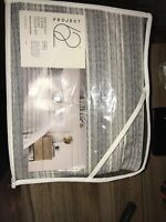 Project 62 Gray Abstract Stripe Duvet Cover Set 3 pc King New MSRP $79.99