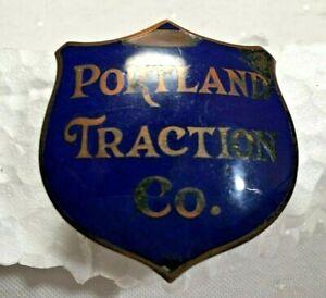 RARE and ANTIQUE Portland Tractor Company Enamel Pin - Karl J. Klein Portland