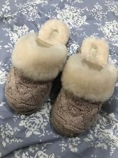 Ugg Australia Dusty Pink Cozy Cable Knit Slippers 6.5
