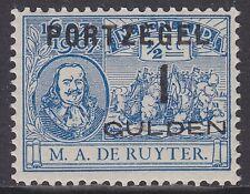P43: 1 gulden Portzegel 1907 overdruk De Ruyter, postfris (MNH)