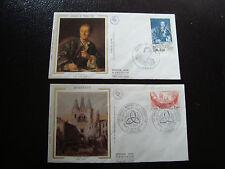 FRANCE - 2 enveloppes 1er jour 1984 (bordeaux-journee du timbre) (cy18) french