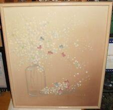 SEGUNDO HUERTAS AGUIAR FLOWERS IN A GLASS JAR ORIGINAL OIL ON CANVAS PAINTING