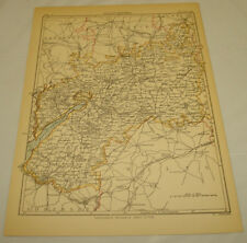 1889 Antique Map of Gloucester, England