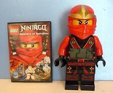 "LEGO~NINJAGO Jungle KAI 9 1/2"" DIGITAL ALARM CLOCK & Masters of Spinjitzu DVD"