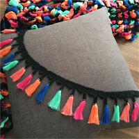 2Yards Colorful Tassel Fringe Trim Braid Lace Ribbon Sewing Crafts 2.95'' Width