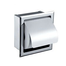 Indoor Bathroom Stainless Steel Chrome Wall Mounted Rolling Toilet Paper Holder