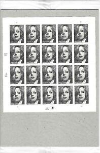 GRETA GARBO STAMP SHEET (SEALED) - USA Scott #3943. 37 cents. Issued in 2005