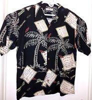 Tommy Bahama Pure Silk Hawaiian Camp Shirt Paradise Isle LARGE EUC