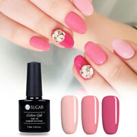 3X Pink Red Series Nail Gel Polish Set UV LED Soak Off Pure Gel Varnish Shiny