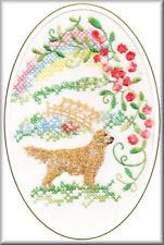 Golden Retriever Rainbow Bridge Card Embroidered by Dogmania