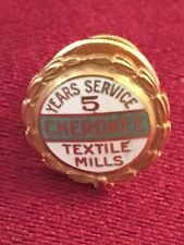 CHEROKEE TEXTILE MILLS 5 & 10 YEAR SERVICE 1/10 10k GOLD FILLED PINS