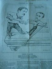 Caricature 1881 - Figures of the day Spuller Vignaux and Slosson Part pool