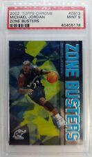 2002 02-03 TOPPS CHROME ZONE BUSTERS Michael Jordan #ZB13, Graded PSA 9 Mint !