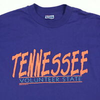 Vtg 80s 90s Tennessee T-Shirt XL Hanes 50/50 USA Single Stitch Volunteer State