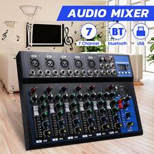 7 Kanal USB bluetooth Mixer Live Studio Audio Mischpult DJ Konsole Verstärker