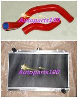 ALUMINUM RADIATOR+Hose for NISSAN SILVIA S14 S15 SR20DET 240SX 200SX 3 ROW 52MM