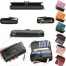 Women New Black Ladies Leather Phone Wallet Clutch Purse Card Cash Coin Holder