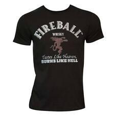 Men's Fireball Text Label T-Shirt (Large) - NEW!