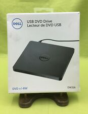 Dell USB DVD Drive DVD +/- RW Slim 14mm Design Computer Windows Open Box: Unused