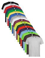 Mens Plain Cotton BROWN BLUE GREEN BURGUNDY RED GREY YELLOW ORANGE Tee T-Shirt