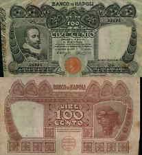 """100 lire 31/05/1915  """"Banco  di Napoli"""""""