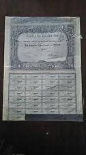 ACTION / COMPAGNIE IMMOBILIERE / ACTION DE 500 FRANCS / PARIS 1863