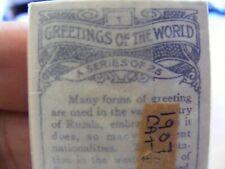 More details for rare cigarette cards hignetts greeting of the world,original, full set of 25