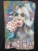 Kesha Concert T-shirt Tour 2016 Womens Medium Black
