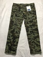 Almost Famous Tom Girl Ankle Jeans Size 11 Camouflage Destroyed Shredded NWT