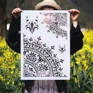 A3 A2 Size DIY Walls Painting Craft Layering Mandala Stencils Album Embossing