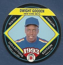 1993 'King B'  Beef Jerky Baseball Disc - #14 - Dwight Gooden - Mets