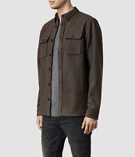 Men's All Saints Merchant Shirt Jacket Thick Woolen – Brown - Large - UK!