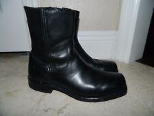 Frye Men Black Leather Side Zip Square Toe Boots sz 8 MINT