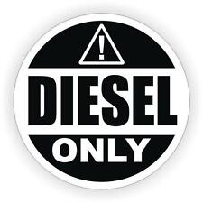 Sticker decal car door bumper macbook laptop rental diesel fuel only black white