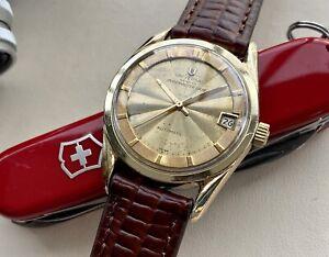 Universal Geneve Polerouter Gold Steel Date men's Automatic UG 69 Vintage Watch