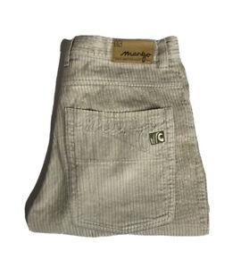 Vintage Mango Corduroy Surf Shorts Cream Mens Size Medium