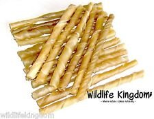 ✔ 400 x 7-8mm Natural Rawhide Twists Sticks Dog Chews 5 Inch Treats Chew Reward✔