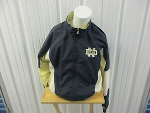 VINTAGE CHAMPION NOTRE DAME FIGHTING IRISH SEWN LARGE TRACK JACKET/MED PANTS 90S
