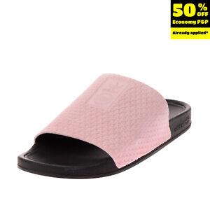 ADIDAS ORIGINALS ADILETTE LUXE Leather Slide Sandals EU 40.5 UK 7 US 8 Geometric