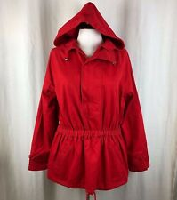 Anthropologie Cordelia Red Hooded Pullover Jacket Size 8